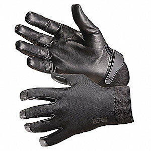 Leather Mechanics Gloves, Sheepskin Leather Palm Material, Black, M, PR 1