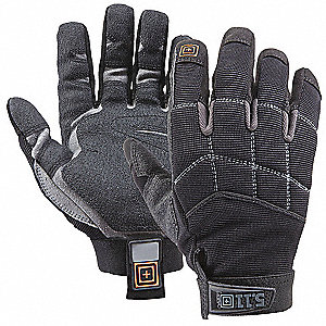 General Utility Mechanics Gloves, Duraclad Palm Material, Black, 2XL, PR 1