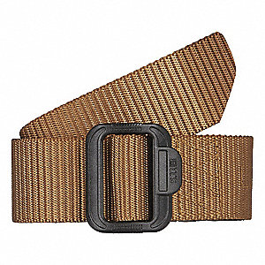 "Belt, 500d Nylon, Coyote Brown, Width: 1-3/4"", Size: M"