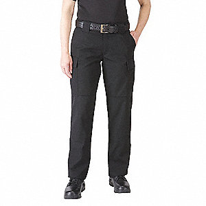 Ripstop TDU Pants. Size: L/14, Fits Waist Size: L/14, Inseam: Long, Black