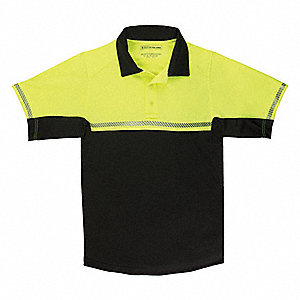 Bike Patrol Polo,3XL,Reflective Yellow