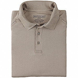 Performance Polo,2XL,Silver Tan