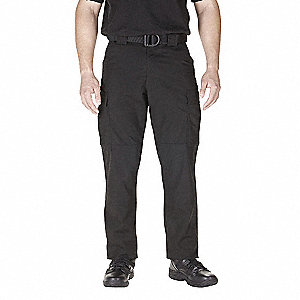 "Taclite TDU Pants. Size: S/M, Fits Waist Size: 32"" to 34"", Inseam: 34"", Black"