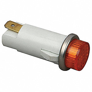 Light,  Indicator 125V Amber,  Round