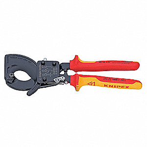 "Insulated Cable Cutter,9-7/8"" Overall Length,Center Cut Cutting Action,Primary Application:  Electri"