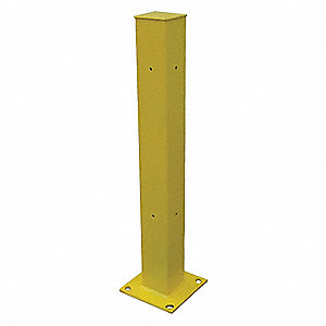 "42""H Bolt On End Post, Safety Yellow"