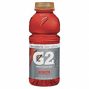 Fruit Punch Ready to Drink Low Calorie Sports Drink, Package Size: 20 oz., Yield: 20 oz., 24 PK