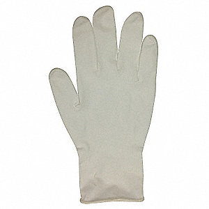 "12"" Powder Free Unlined Nitrile Disposable Gloves, White, Size  S, 100PK"