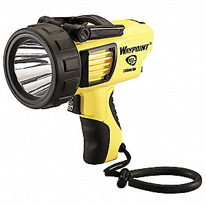 LED Spotlight, Plastic, Maximum Lumens Output: 1000, Yellow, 6.75""