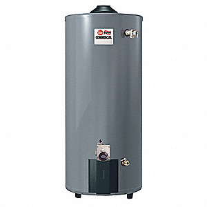 Commercial Gas Water Heater, 50 gal. Tank Capacity, Natural Gas, 65,000 BtuH