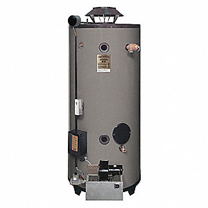 Commercial Gas Water Heater, 100 gal. Tank Capacity, Natural Gas, 250,000 BtuH