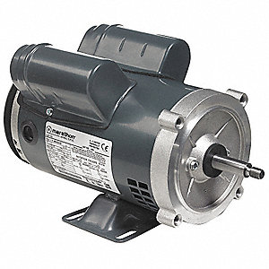 1-1/2 HP Jet Pump Motor, Capacitor-Start, 3450 Nameplate RPM, 115/208-230 Voltage, 56J Frame