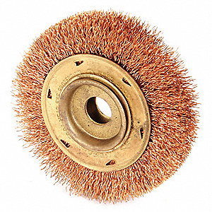 Nonsparking Wire Wheel Brush,4 in. dia.