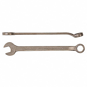 "2-1/8"", Combination Wrench, SAE, Natural Finish, Number of Points: 12"
