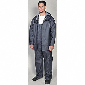 Rain Coat, High Visibility: No, ANSI Class: Unrated, Polyester, PVC, 5XL, Green