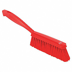 HAND BRUSH,SOFT,RED