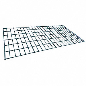"Steel Wire Decking used with Boltless Shelving, Bulk Storage Rack, 48""D x 48""W, Gray"