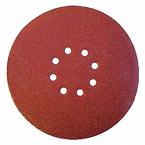 "9"" Coated Hook-and-Loop Sanding Disc, 180 Abrasive Grit, Fine Grade, Aluminum Oxide"