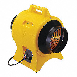 Axial Confined Space Fan, 1/4 HP, 230VAC Voltage, 2260 rpm Blower/Fan Speed