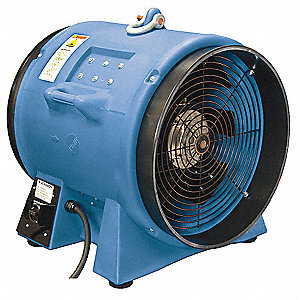 Axial Confined Space Fan, 3 Phase, 5 HP, 230VAC Voltage, 3450 rpm Blower/Fan Speed