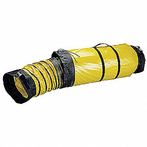 "25 ft. Ventilation Duct with 8"" Dia., Black/Yellow&#x3b; Use With Mfr. No. VAF1500A, VAF1500B"