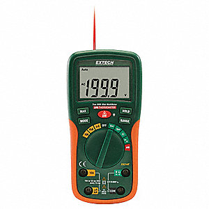 EXTECH (R) EX210T Compact Digital Multimeter, -5° to 446°F Temp. Range