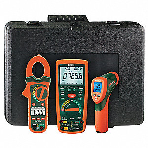 Electrical Test Kit, Test Instrument Included: Clamp Meter, Infrared Thermometer, Insulation Tester