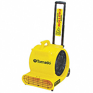 Portable Blower Fan,115V,2900 cfm,Yellow