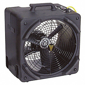 Portable Blower Fan,115V,3000 cfm,Black