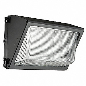 "12-15/16"" x 7-1/2"" x 9"" 35 Watt LED Wall Pack, Dark Bronze"