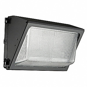 "12-15/16"" x 7-1/2"" x 9"" 59 Watt LED Wall Pack, Dark Bronze"