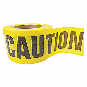 Barricade Tape,Caution,Yellow,500ft