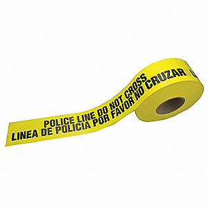 grainger approved barricade tape yellow 3 1 4 x 1000 ft police