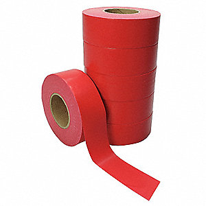 Flagging Tape,Red,Poly,300 ft,PK6