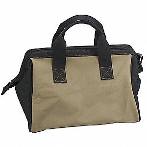 Barricade Tape Bag,Cloth, Tan