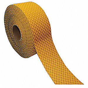 Floor Marking Tape,Yellow,Rub/Adhes,90ft