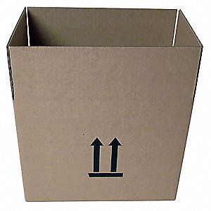 "Shipping Carton, Kraft, Inside Width 8"", Inside Length 13"", Inside Depth 10"", 95 lb., 1 EA"