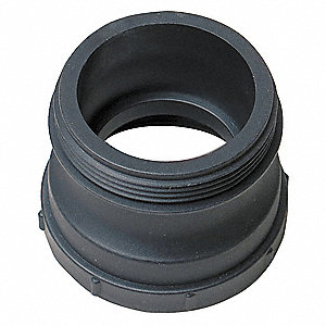 Polypropylene Liquid Storage Container Adapter, Black, For Use With Intermediate Bulk Containers