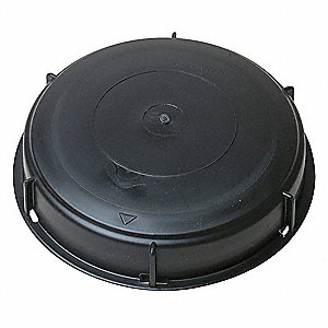 Polypropylene Liquid Storage Container Dust Cap, Black, For Use With Intermediate Bulk Containers
