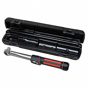 "Rubber Grip-Handle Dial Torque Wrench, 1/2"" Drive Size, 1 Nm Primary Scale Increments, 12"""