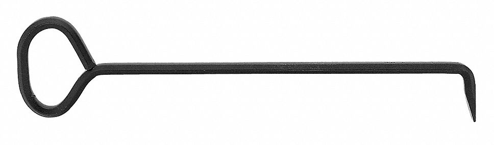 Manhole Cover Bar,  Steel,  24 in Overall Length,  6 in Overall Width,  1 in Overall Height,  Black