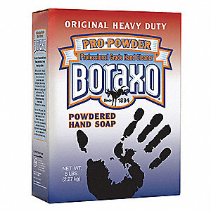 Unscented Powder Hand Cleaner, 5 lb. Box, Boraxo, 10 PK