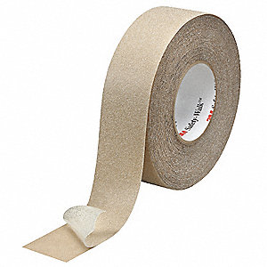 "Solid Clear Anti-Slip Tape, 2"" x 60.0 ft., 60 Grit Aluminum Oxide, Rubber Adhesive, 2 PK"