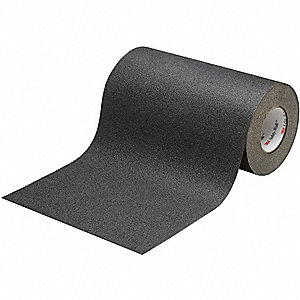 "Solid Black Anti-Slip Tape, 18"" x 60.0 ft., 60 Grit Aluminum Oxide, Rubber Adhesive, 1 EA"