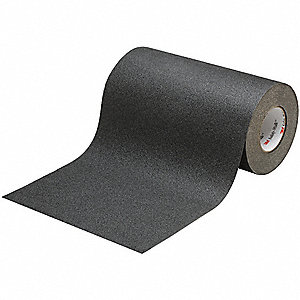 Solid Black Anti-Slip Tape, 2.0 ft. x 60.0 ft., 60 Grit Aluminum Oxide, Rubber Adhesive, 1 EA