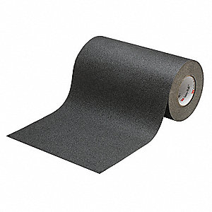 Solid Black Anti-Slip Tape, 3.0 ft. x 60.0 ft., 60 Grit Aluminum Oxide, Rubber Adhesive, 1 EA