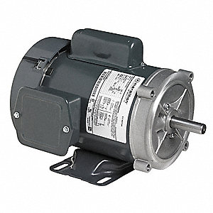 1 HP General Purpose Motor,Capacitor-Start,1725 Nameplate RPM,Voltage 115/208-230,Frame 56C