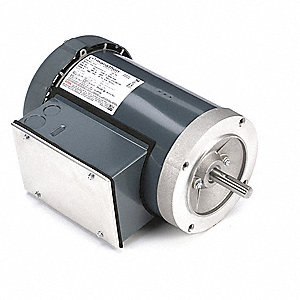 2 HP General Purpose Motor,Capacitor-Start/Run,3450 Nameplate RPM,Voltage 115/208-230,Frame 56C