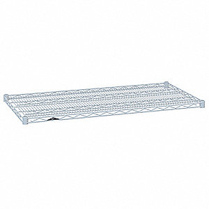 "42""W x 14""D Wire Shelf, Epoxy Finish, 800 lb. Shelf Capacity, White"