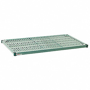 "60""W x 21""D Open Grid Shelf, Epoxy Finish, 600 lb. Shelf Capacity, Green"